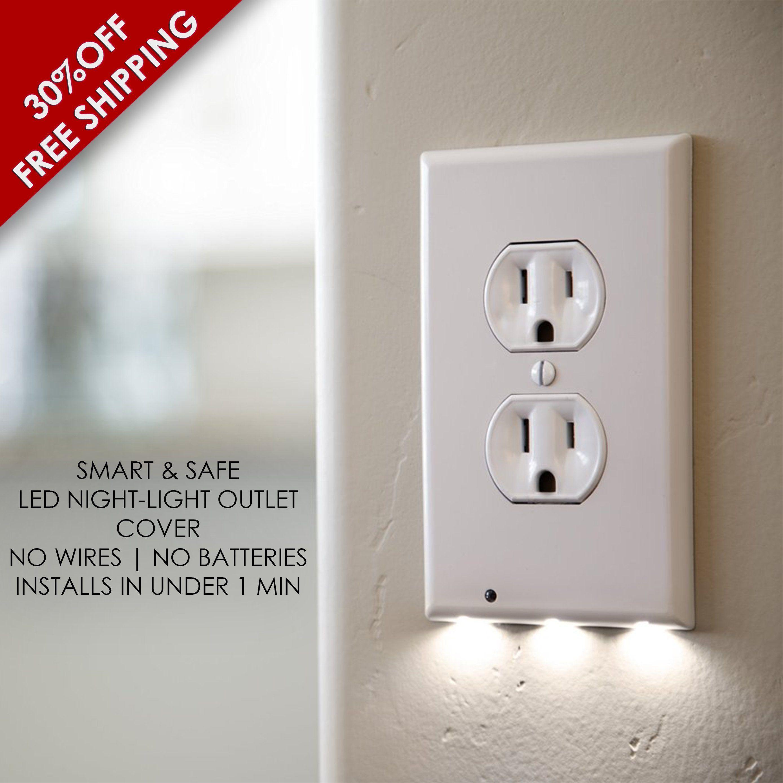 Smart Outlet Night Light Cover- Best Energy Saving LED Night Light ...