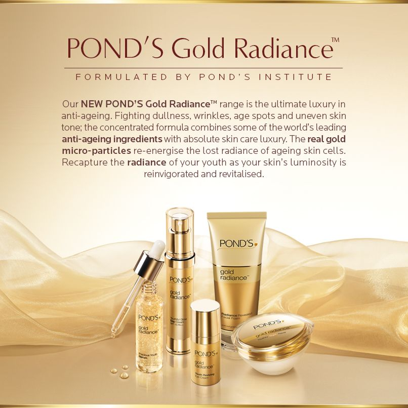 New Pond S Gold Radiance With Real Gold Particles Facial Skincare Ageingskin Agingskin Moisturiser Luxury Skincare Skin Care Uneven Skin Tone