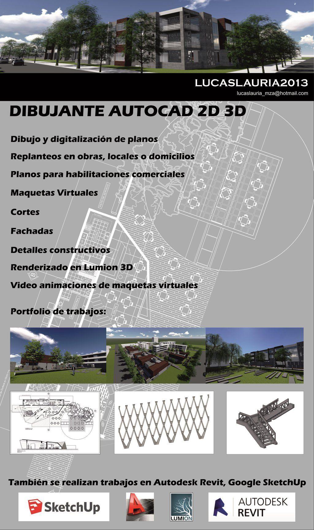 Cadista Dibujante Autocad 2d 3d Planos 50 00 En Mercado Libre Autocad Planos Anuncios De Trabajo