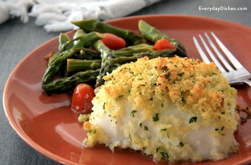 Pacific cod with lemon butter recipe baked cod powder for Fish dishes for dinner