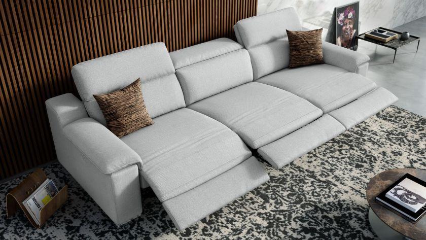 Das 3 Sitzer Sofa Macello Garantiert Ein Traumhaftes Sitzerlebnis Das Stoffsofa Hat Zudem Motoren Und Ist Elektrisch Verstellbar In 2020 3 Sitzer Sofa Sofa Relaxen