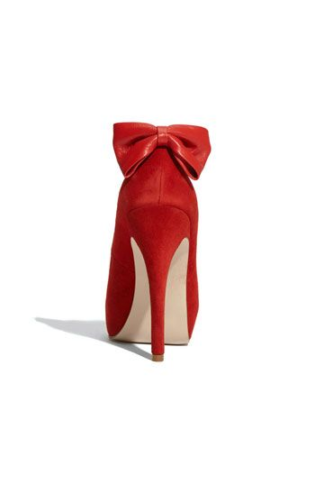 @Renee Peterson Peterson Albanese red bright red with a red bow Add lace to bow or around shoe?