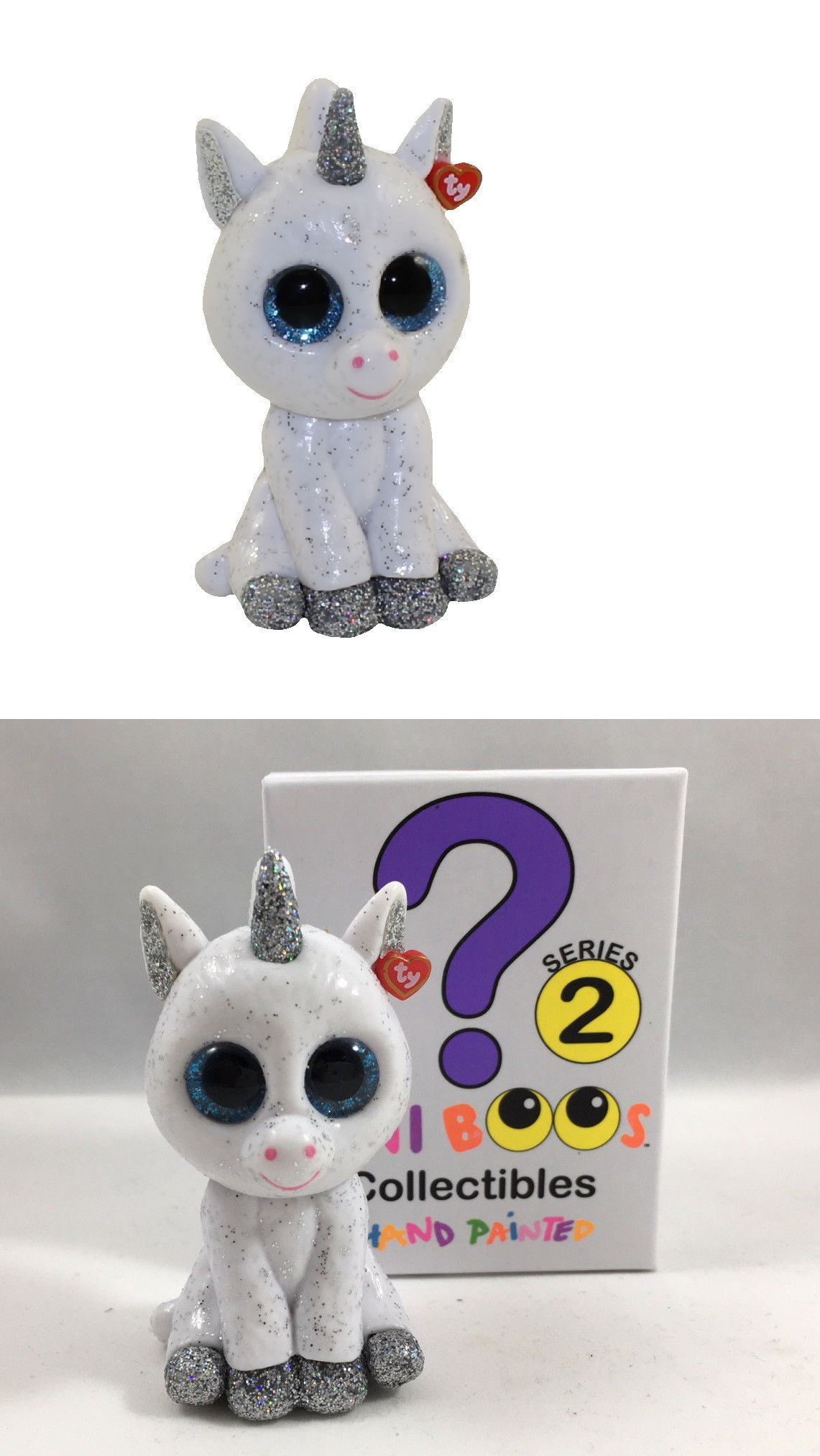 2 inch TY Beanie Boos Mini Boo SERIES 2 Collectible Figure GLITTER the Unicorn