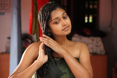 Thank South indian girls in towel bathing dress very grateful