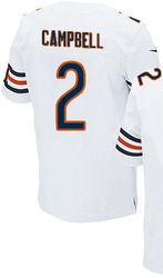 """$78.00--Jason Campbell White Elite Jersey - Nike Stitched Chicago Bears #2 Jersey,Free Shipping! Buy it now:click on the picture, than click on """"visit aliexpress.com"""" In the new page."""