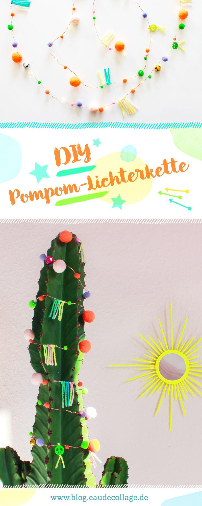 DIY Pompom Lichterkette aus Fairy Lights | Classroom projects, DIY ...
