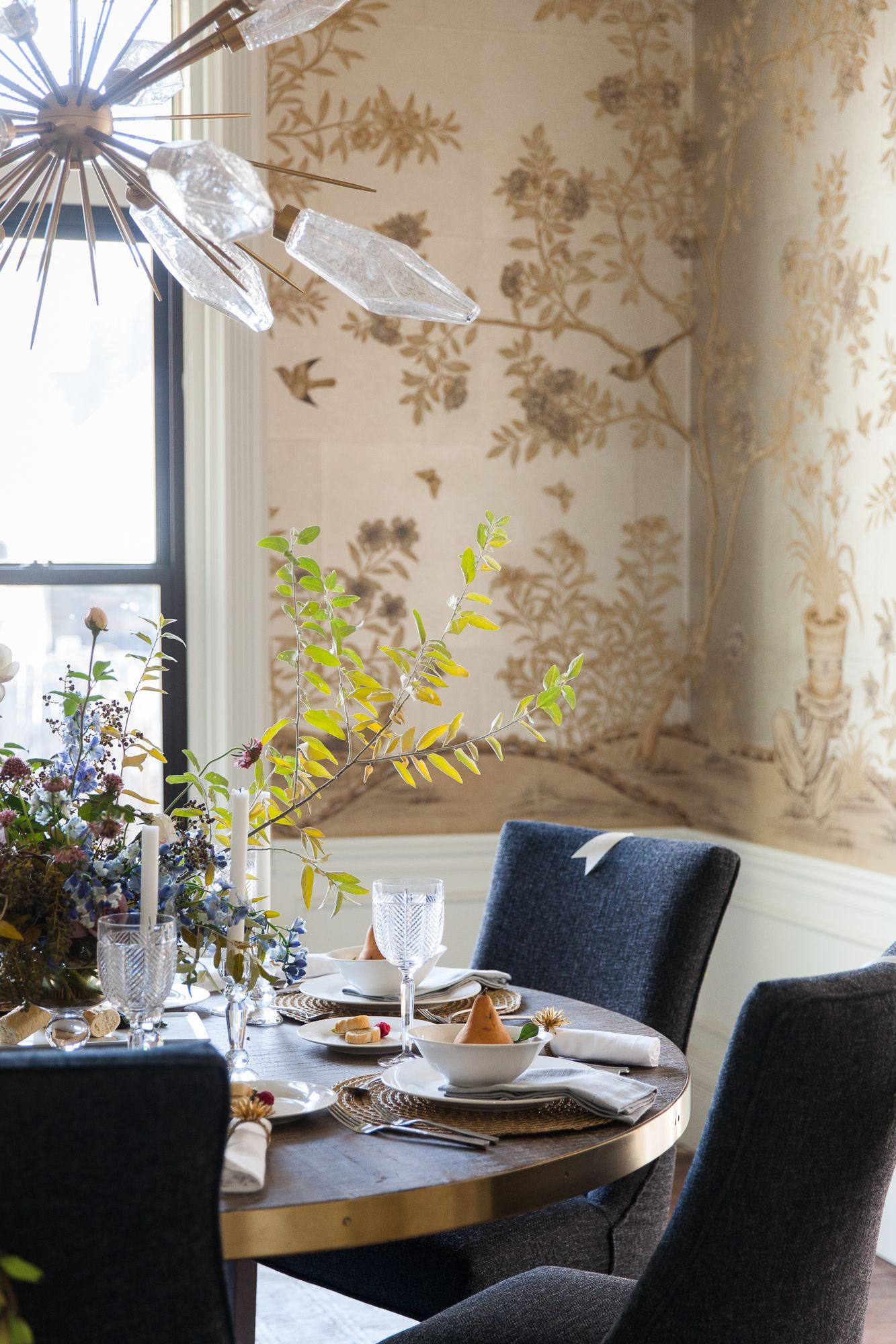 Win This House Dining Room Reveal  Home Love Networkfeaturing Alluring Crystal Dining Room Chandeliers Inspiration Design