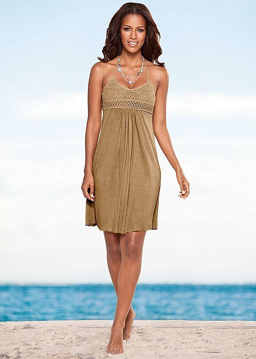 Slimming Style With Adjule Neck Tie Venus Crochet Bust Halter Dresulti Stone