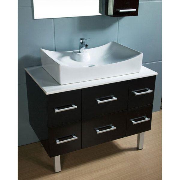 Design Element Paris Contemporary Bathroom Vanity With Vessel Sink Entrancing Design Element Bathroom Vanity 2018