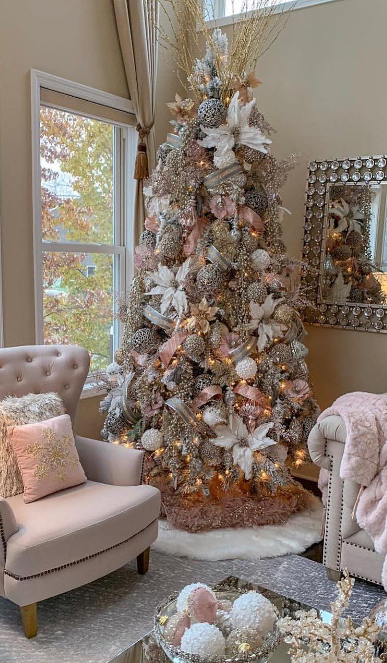 40 Awesome Christmas Tree Decoration Ideas For New Year 2019 Page 9 Of 40 Ladiesways Com Women Hairstyles Blog Elegant Christmas Trees Floral Christmas Tree Amazing Christmas Trees