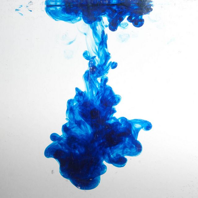 Blue food colouring in water as shot | Blue food