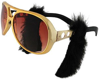 Elvis Rock and Roll Legend Sunglasses Costume Accessory