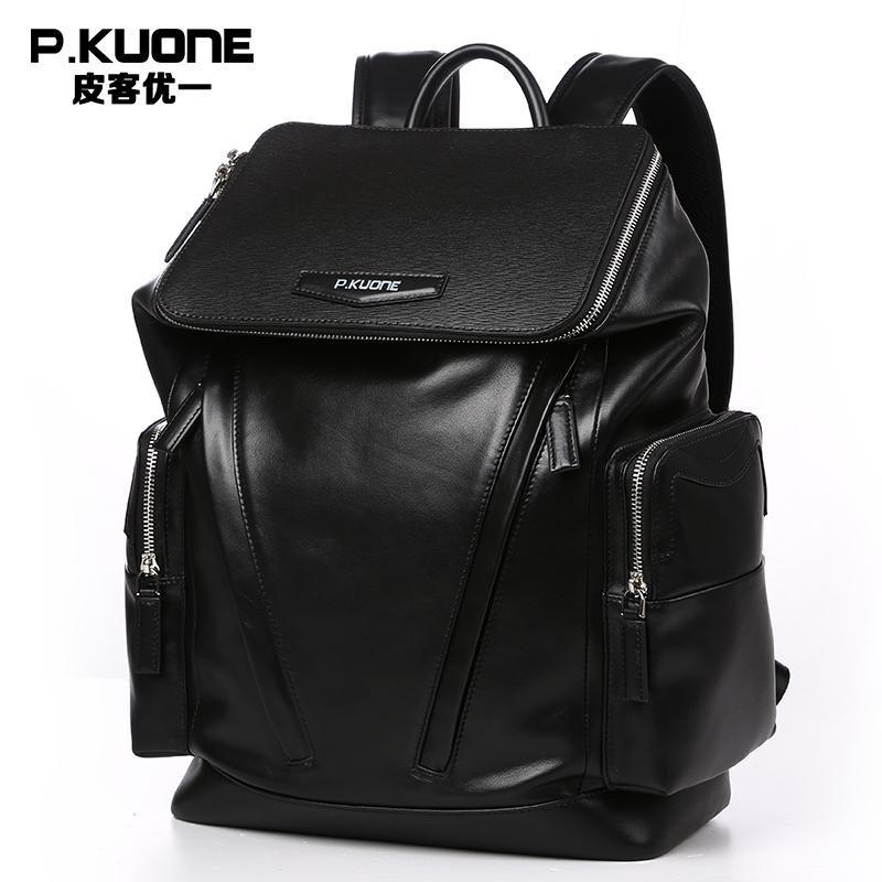 Fashion Designer Genuine Leather Backpacks For Men School Bags Famous Brand  Shoulder Bag Men Travel Bag Natural Cowhide Backpack. 38c2436914