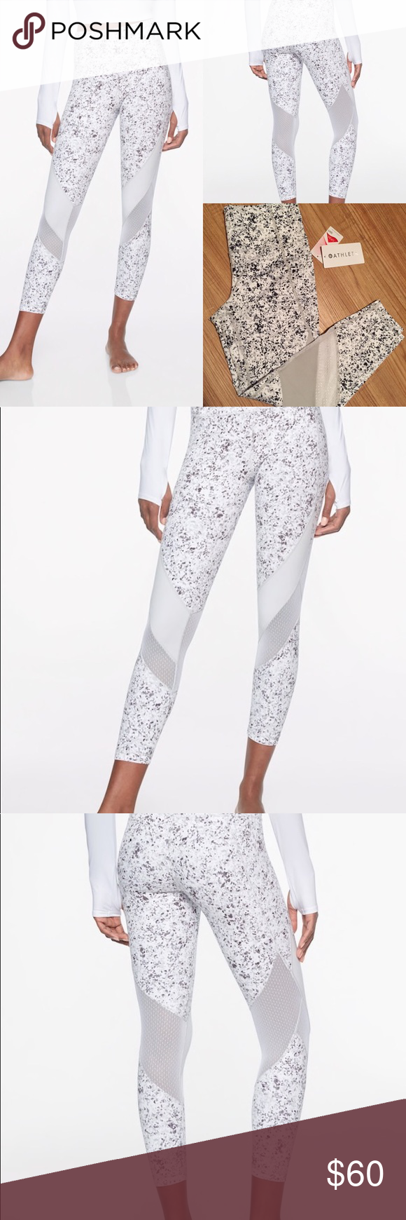 cb63982bf0 Athleta Sandstone PowerVita Salutation 7/8 Tights PowerVita fabric Fitted,  High rise Fits next