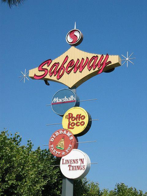 Former sign for the 1961 Futurama Bowl in Santa Barbara CA,