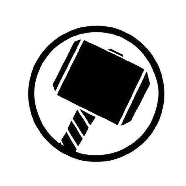Thors Hammer Logo Vinyl Decal Sticker Marvel Dc Comics Lokey 099 Hammer Logo Car Decals Vinyl Car Stickers