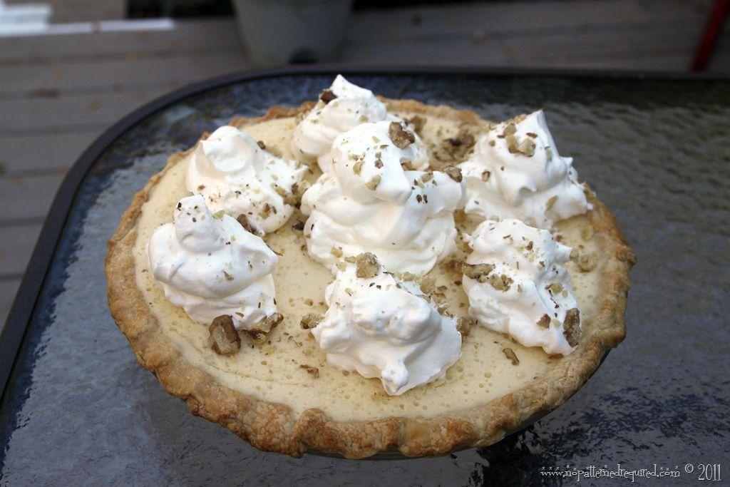 The Cider Eggnog Pie