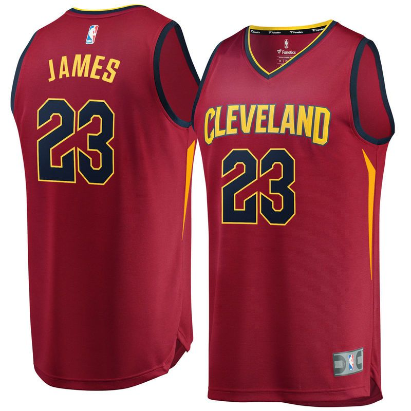 huge discount 8b58b eece6 LeBron James Cleveland Cavaliers Fanatics Branded Fast Break ...