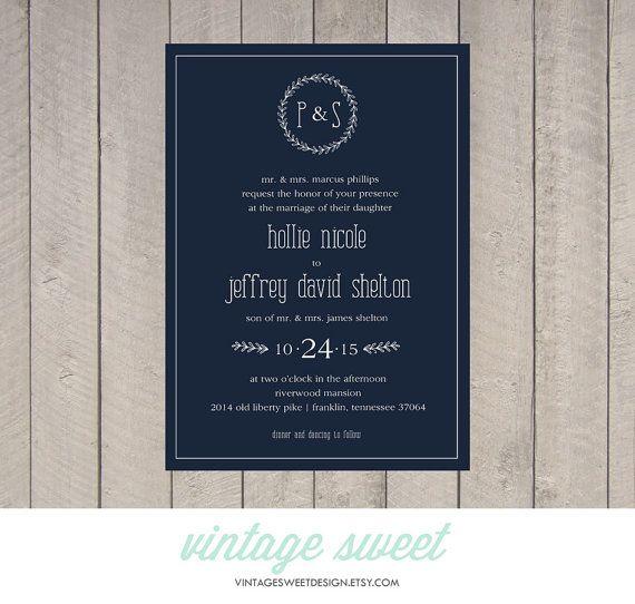 Diy Chalkboard Wedding Invitations: Wedding Invitation Printable DIY By Vintage By