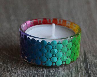 Mandala Kaarshouder Waxine Glas Glass Bottles Art Dot Painting Candle Art