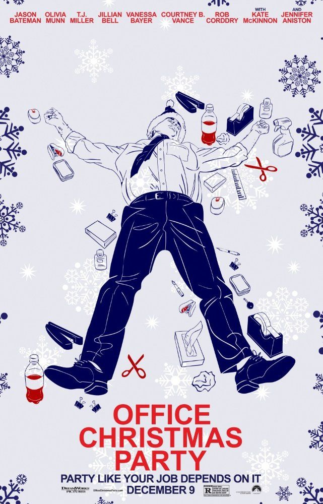 Latest Posters Office christmas party movie, Office