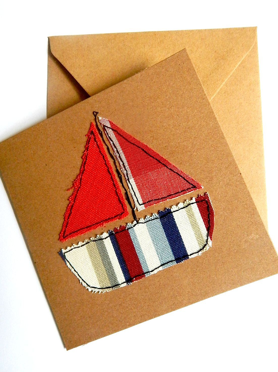 Kids birthday card sailing boat greeting card new baby st