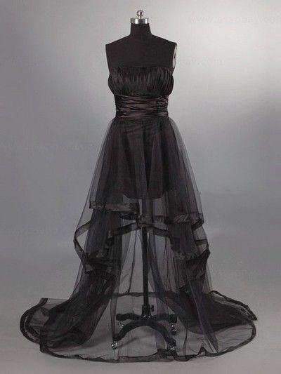 Long Custom Prom Dress,black Prom Dress,strapless Prom Dress, unique Prom Dress,sexy Prom Dress,retor prom dress,, PD210125