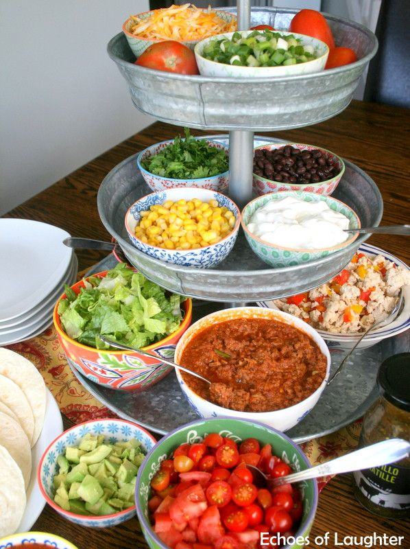 Mexican Salad & Taco Bar-Perfect For Families! - Echoes of Laughter