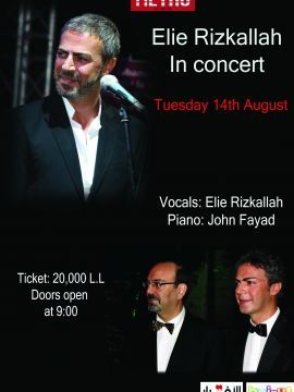 Elie Rizkallah in Concert at Metro, Live Music, Metro Al Madina is hosting a concert with Lebanese singer Elie Rizkallah and Pianist Dr. John Fayyad. The duo will take you back to the 50s and 60s with a performance centered around songs and poems b...