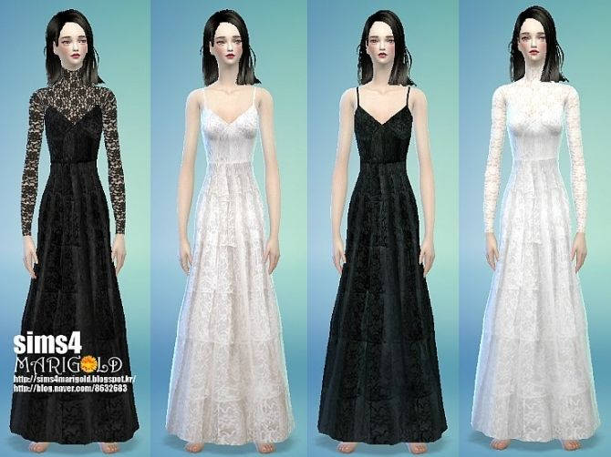 sims 4 long dress cc to inches