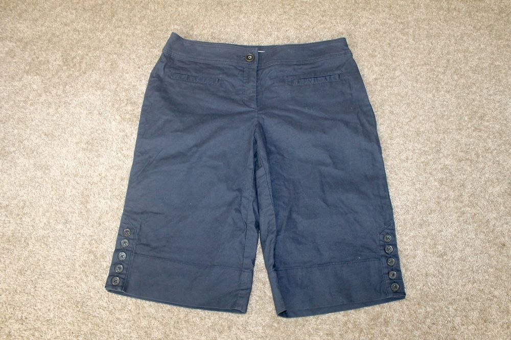 CAbi # 954 Navy Blue Bermuda Walking Shorts Size 10 #CAbi ...