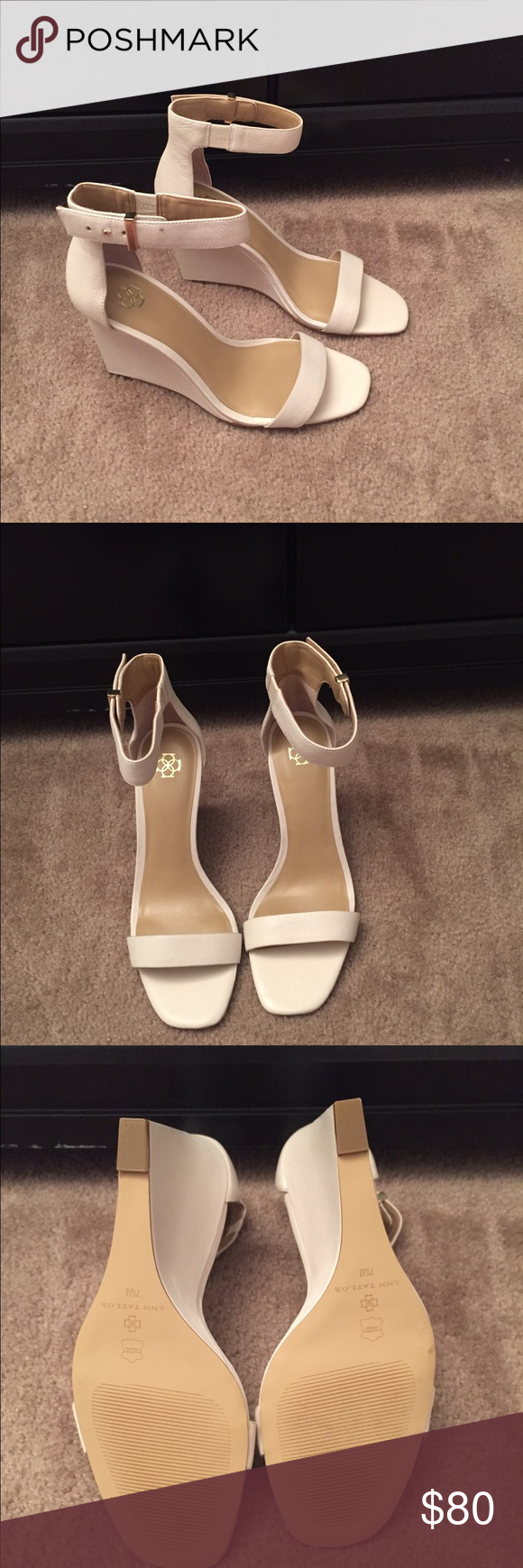 New in box Ann Taylor wedge Brand new, never worn Emmy wedge sandal Ann Taylor Shoes Wedges
