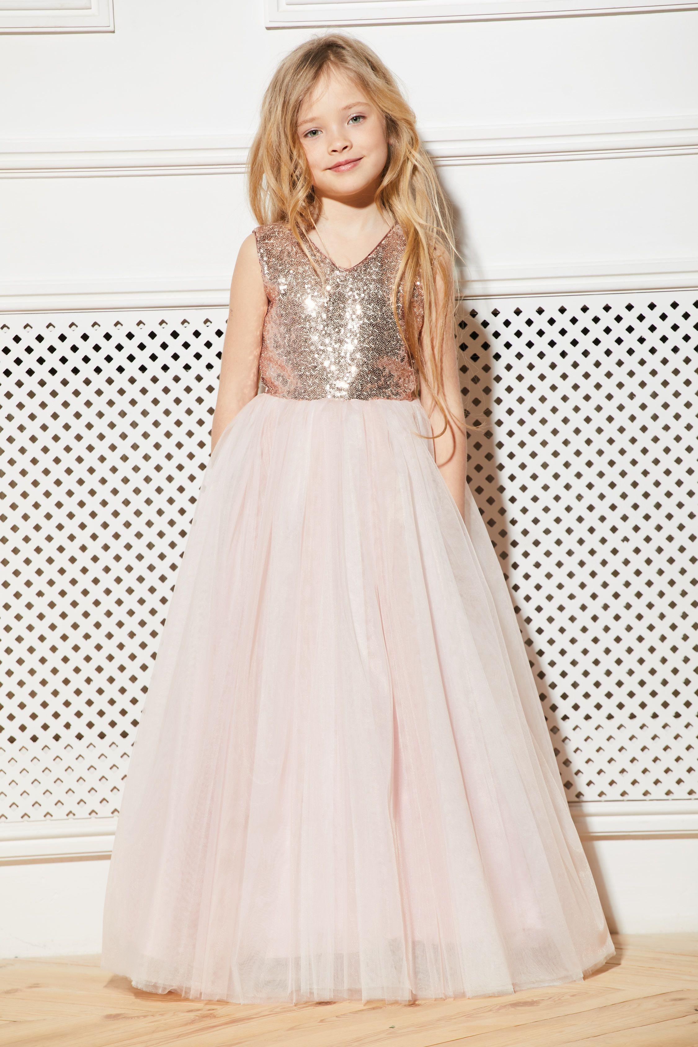 a7534604a07a4 Blush flower girl dress tulle Sequin flower girl dress Pink junior  bridesmaid dress Tutu flower dress Wedding dress Toddler flower dress