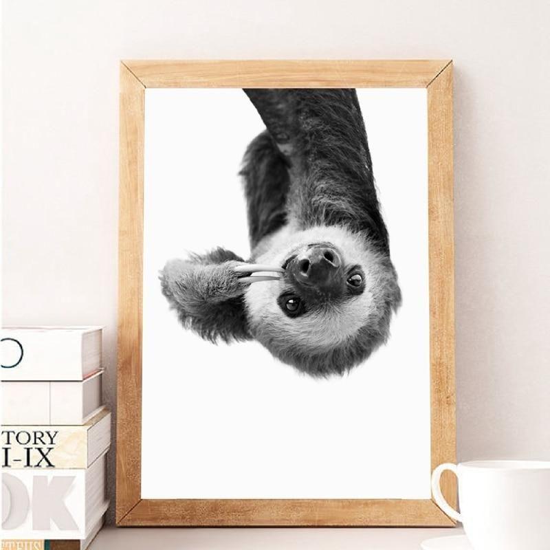 Sloth Canvas Animal Canvas Paintings Wall Art Canvas Painting Canvas Wall Art