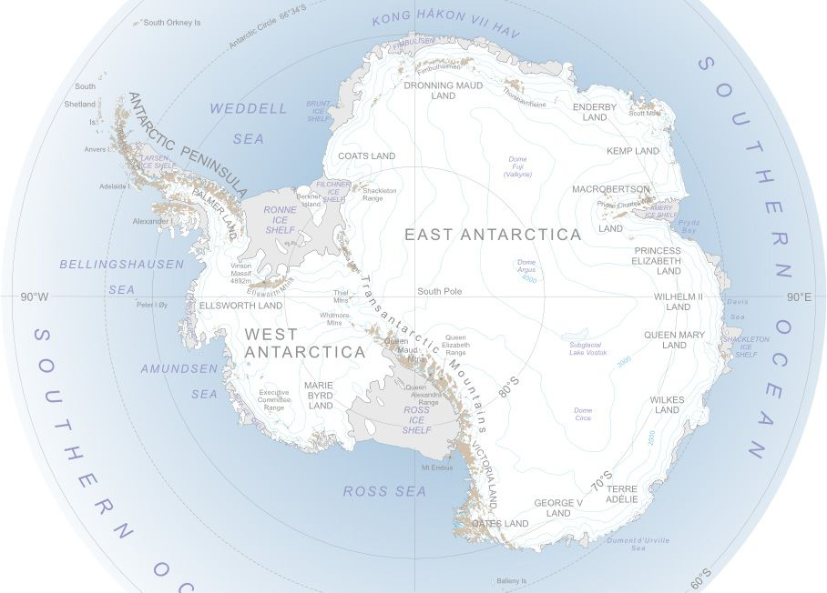 Map of Antarctica with Interactive Exploration Timeline. | Maps of ...