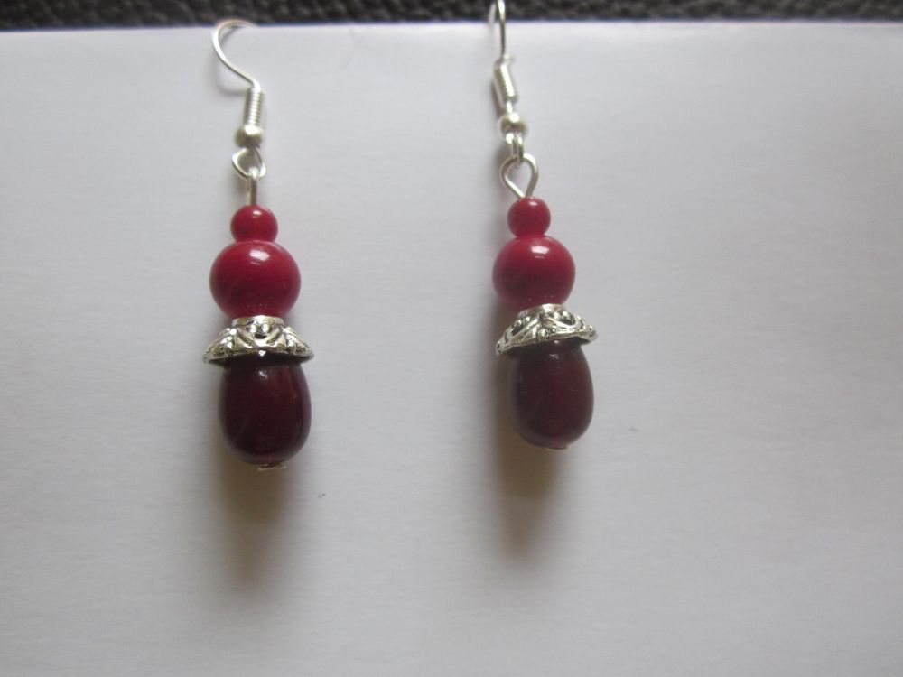 Fashion Women Girls drop Dangle hook antique silver Earrings  hot festival sale #Handmade #DropDangle