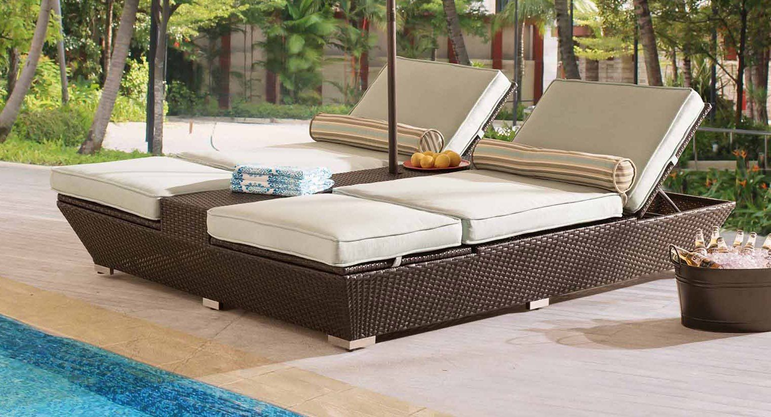 Sunjoy jenny dual adjustable loungers constructed out of