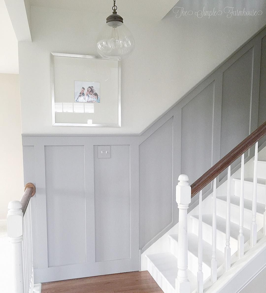 Painted Basement Stairs Ideas: DIY Board And Batten Trim