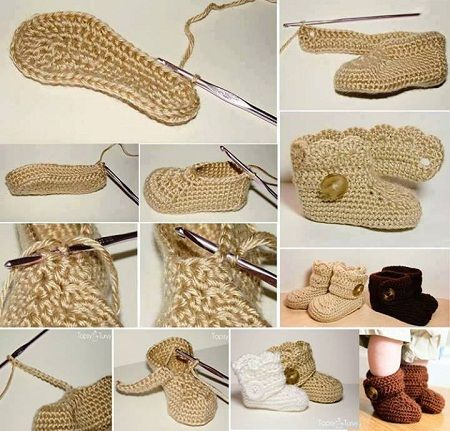 Como hacer zapatos tejidos para bebé paso a paso - Imagui  2386b9a8383