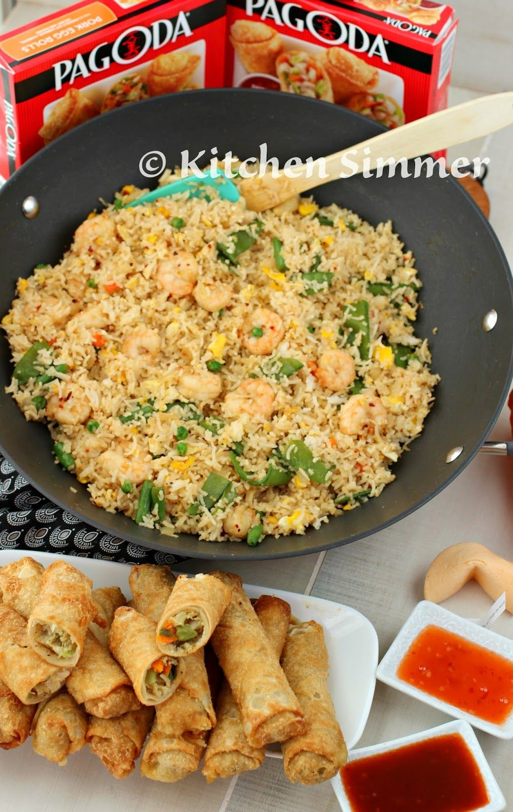 Kitchen simmer easy shrimp fried rice with pagoda egg rolls kitchen simmer easy shrimp fried rice with pagoda egg rolls frozenfromscratch collectivebias ccuart Gallery
