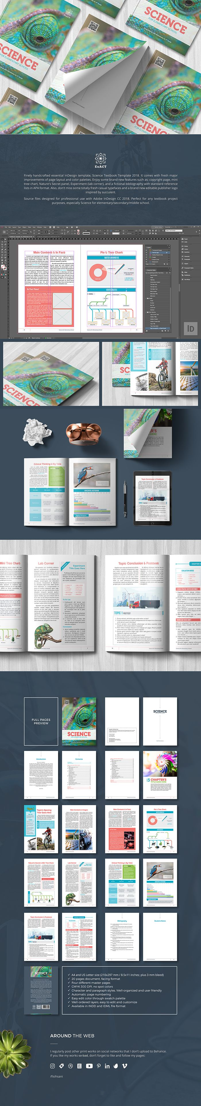 finely handcrafted essential indesign template science textbook