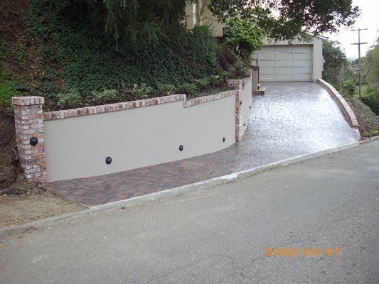 Retaining Wall Landscaping Retaining Walls Concrete Block Walls Brick Columns