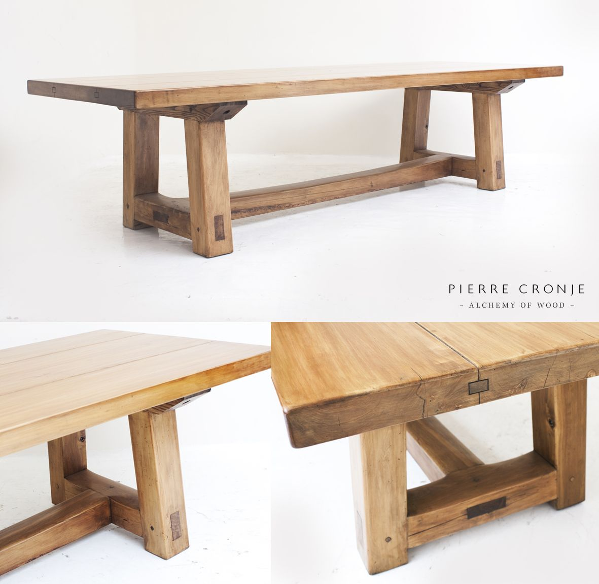 A pierre cronje hampton table in yellowwood dining tables