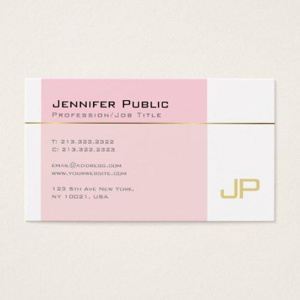 Stylish gothic font monogram plain trendy pink business card reheart Image collections