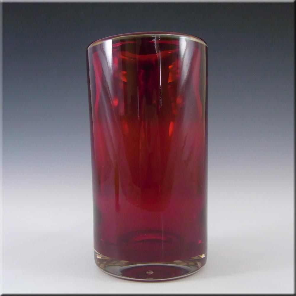 Whitefriars 9583 Baxter Ruby Red Glass Cylinder Vase 33 25 In 2020 Glass Cylinder Vases Glass Cylinder Vase