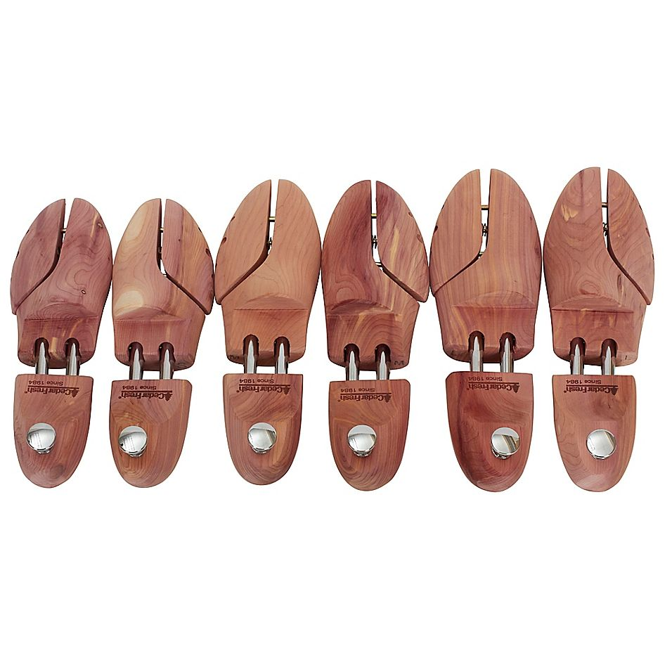 Household Essentials Men S Premier Cedar Shoe Trees Bed Bath Beyond In 2021 Shoe Tree Mens Essentials How To Stretch Shoes