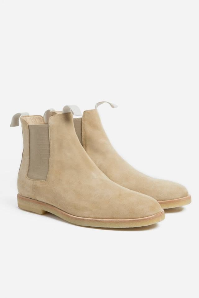 Common Projects Chelsea Boot Suede - Tan · Men's ShoesCommon ...
