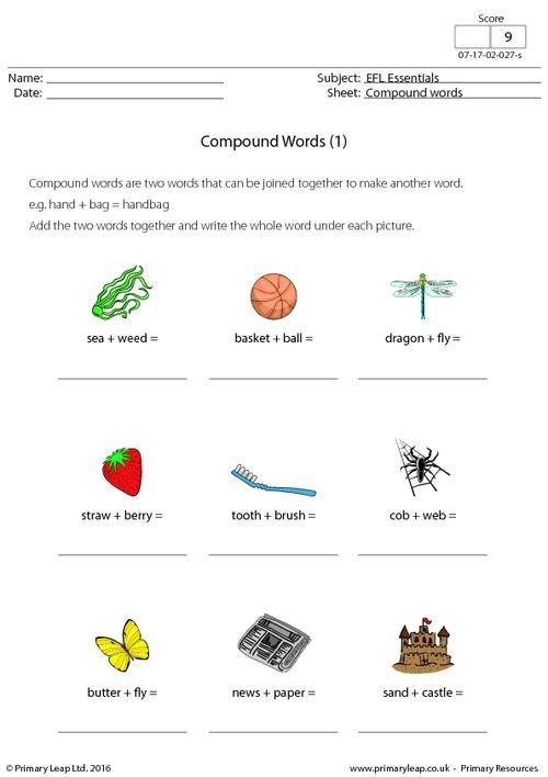 Primaryleap efl compound words 1 worksheet eflesl efl compound words 1 primaryleap ibookread ePUb