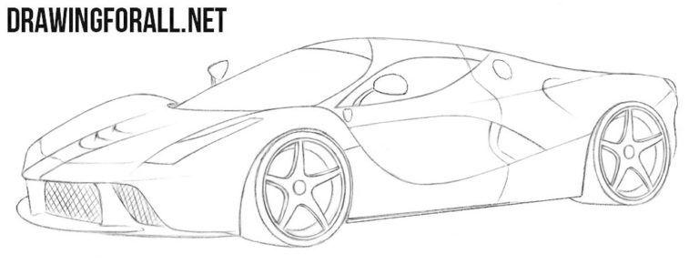 How To Draw A Ferrari Laferrari With Images Ferrari Laferrari