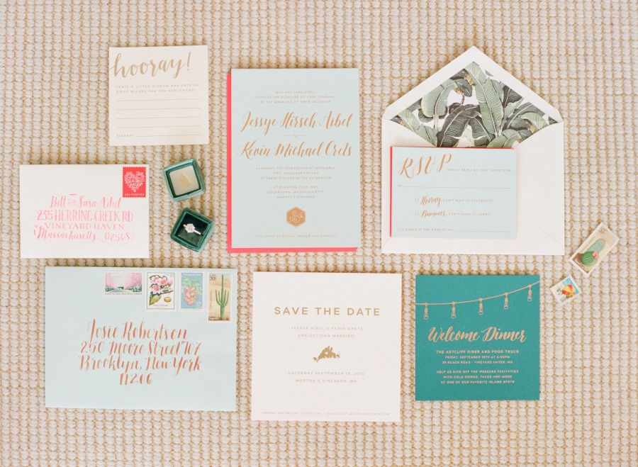 Photography: Ruth Eileen Photography - rutheileenphotography.com Invitations: Jessye Aibel - http://citytonic.com   Read More on SMP: http://www.stylemepretty.com/2016/01/26/blogger-bride-jessye-of-city-tonics-colorful-diy-wedding/